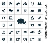 communication icons vector set | Shutterstock .eps vector #347623265