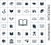 books icons vector set   Shutterstock .eps vector #347623361