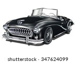 vintage car | Shutterstock .eps vector #347624099