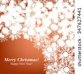 christmas glowing lights. merry ... | Shutterstock .eps vector #347627441