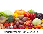 closeup of fresh vegetables ... | Shutterstock . vector #347628515