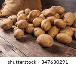 Pile of potatoes lying on...