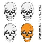 vintage skulls set for emblem... | Shutterstock .eps vector #347635961
