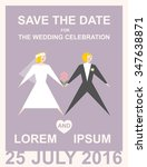 invitation card to the wedding. ... | Shutterstock .eps vector #347638871