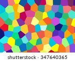colorful abstract mosaic... | Shutterstock .eps vector #347640365