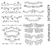 hand drawn vector line border... | Shutterstock .eps vector #347642879