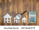 buy house mortgage calculations ... | Shutterstock . vector #347646575