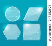 glass tecnology border... | Shutterstock .eps vector #347652929