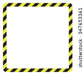construction warning border ... | Shutterstock .eps vector #347653361