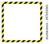 construction warning border ... | Shutterstock .eps vector #347653361