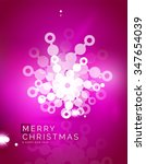christmas purple color abstract ... | Shutterstock .eps vector #347654039