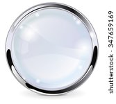 glass button with chrome frame. ... | Shutterstock .eps vector #347659169
