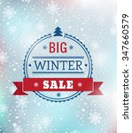big winter sale typography... | Shutterstock .eps vector #347660579