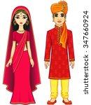 animation indian family. full... | Shutterstock .eps vector #347660924