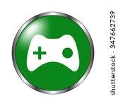 joystick    green vector icon