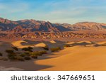 landscape of sand dunes in... | Shutterstock . vector #347669651