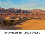 Landscape Of Sand Dunes In...