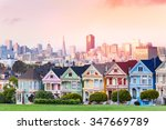 evening skyline of san... | Shutterstock . vector #347669789