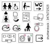 set of icons for toilet  and... | Shutterstock .eps vector #347672525