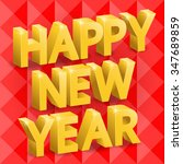inscription happy new year ... | Shutterstock .eps vector #347689859