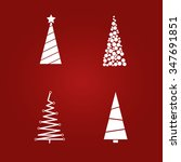 christmas tree vector set | Shutterstock .eps vector #347691851