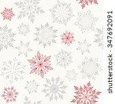 snowflakes pattern | Shutterstock .eps vector #347692091