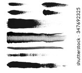 black ink vector brush strokes | Shutterstock .eps vector #347692325
