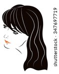 portrait sketch of a beautiful... | Shutterstock .eps vector #347697719