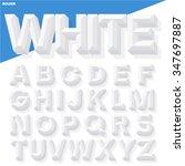 vector 3d white simple bold...   Shutterstock .eps vector #347697887