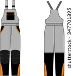 winter trousers sketch fashion... | Shutterstock . vector #347701895