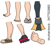 vector set of cartoon leg | Shutterstock .eps vector #347702885