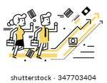 business people competitive... | Shutterstock .eps vector #347703404