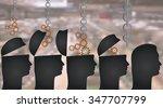manipulation or education... | Shutterstock .eps vector #347707799