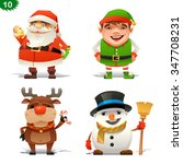 christmas professions set | Shutterstock .eps vector #347708231