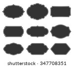 set vector monochrome vintage... | Shutterstock .eps vector #347708351