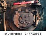 stove of the steam locomotive | Shutterstock . vector #347710985