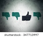 social network concept  row of... | Shutterstock . vector #347713997