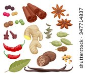 spices and herbs icons set... | Shutterstock .eps vector #347714837