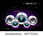 high tech sound system on... | Shutterstock .eps vector #34771531