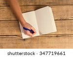 hands close up book to use... | Shutterstock . vector #347719661