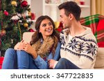 young happy couple during the... | Shutterstock . vector #347722835