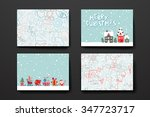 merry christmas set of card... | Shutterstock .eps vector #347723717