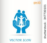 family life insurance sign icon.... | Shutterstock .eps vector #347730101