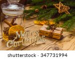 merry christmas  accessories... | Shutterstock . vector #347731994