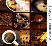 Coffee Collage With Brown...
