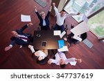 top view of  business people...   Shutterstock . vector #347737619