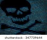 human skull in digital... | Shutterstock . vector #347739644