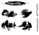 vector set of grunge brush... | Shutterstock .eps vector #347744291