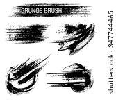 vector set of grunge brush...   Shutterstock .eps vector #347744465