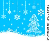 christmas card with snowflakes... | Shutterstock .eps vector #347755451